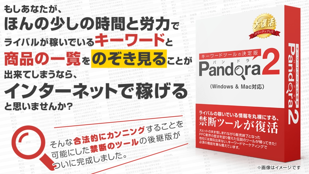 Pandora2「買い切り版」  by Catch the Web Asia Sdn Bhdを格安購入する方法