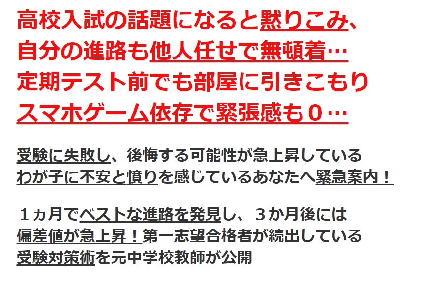 【97%が合格した秘密】元中学校教師道山ケイの高校受験・高校入試・勉強対策プログラム by 株式会社Adventure Lifeの実践レビュー