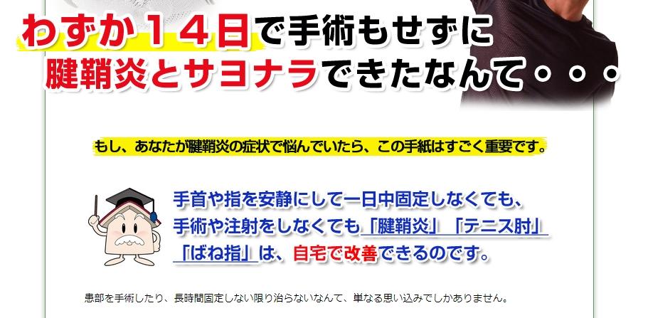 【福辻式】腱鞘炎改善プログラム by 株式会社アイマーチャントの実践検証blog