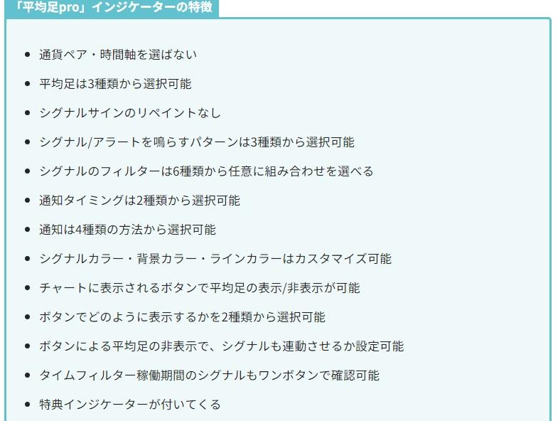 高機能平均足MT4インジケーター「平均足Pro」 by 北川 生子のレビュー【実質キャッシュバック】